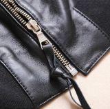 Jupes en cuir faites sur commande de base-ball de dames - jupe en cuir véritable terminée parhiver de peau d'agneau pour des femmes