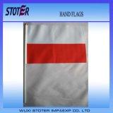La mano de encargo de los indicadores de mano de la buena calidad señala indicadores del palillo por medio de una bandera de la mano del poliester
