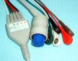 Datex Snap&Clip Rou 10pin 3&5 Kabel van ECG