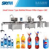 Máquina de rellenar plástica del agua de la botella 3 In1/de manatial/en línea Pre-Embotellamiento