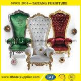Re lussuoso durevole Chair dell'oro per la sposa e lo sposo