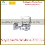 Gesundheitliche Ware-Badezimmer-Messingbefestigungs-einzelner Glasmessinghalter