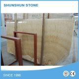 Mattonelle piacevoli del marmo dell'indicatore luminoso del Onyx per la parete e Floooring