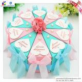 Caja de torta del triángulo de boda europea del estilo y de caja de empaquetado del cartón del caramelo creativo alegre de la individualidad