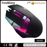 Nuevo ratón profesional atado con alambre USB óptico 10 programables del juego de Dpi