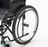 Manual de aço, pneus da montanha, cadeira de rodas, dobradura, (YJ-005H)