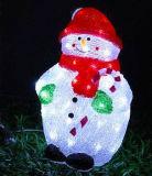Luces solares al aire libre del adorno del muñeco de nieve de la decoración LED del día de fiesta de la Navidad