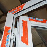 Алюминиевая дверь Casement с втройне стеклом и составной алюминиевой панелью K06040