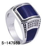 Decklack-Ring des Fabrik-Heiß-Verkaufensterlingsilber-925 für Mann