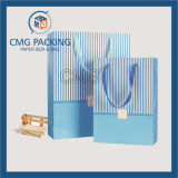 Strip personalizado Printing Cosmetic Paper Bag com Silk Handle (CMG-MAY-030)
