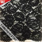 Tela floral bonita do laço do algodão para o vestido