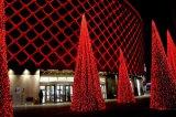 Décoration artificielle de festival de lumière de chaîne de caractères d'arbre de DEL