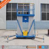 알루미늄 두 배 돛대 공중 근로자 플래트홈 상승 테이블