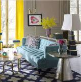 居間のソファーのファブリックソファーが付いているのためのチェスターフィールドのソファー