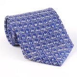 Cravate estampée par fantaisie faite sur commande de polyester de soie de 100% (NT-008)