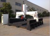 máquinas de pedra da trituração e de estaca do CNC do router da escultura do CNC 3D/5 linha central