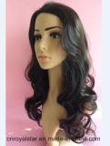 Волосы Remy курчавого парика сбываний внешней торговли женские синтетические