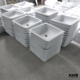 Тазик мытья ванной комнаты Corian цены по прейскуранту завода-изготовителя акриловый твердый поверхностный