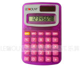 8 cifre Dual Power Pocket Calculator con Opaque & Transparent Colors (LC321)