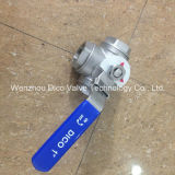 Stainless manuale Steel Ball a tre vie Valve