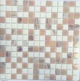 Tuile en verre beige matérielle de salle de bains de décoration