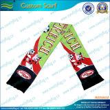 Шарф спорта футбольных болельщиков высокого качества связанный (M-NF19F06009)