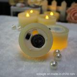 より暖かく白いFlameless LEDの蝋燭の結婚式のCandelabra