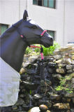 Lead Leather Strip端の個人化されたBraided Crown PP Horse Halter