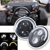 J225 7inch 50W Half Circle LED Halo Headlights com H4 H13 Conectores Fits Jeep Hummer Harley