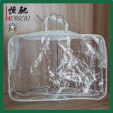 Sac transparent non tissé d'oreiller de qualité de PVC de corde de coton