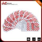 Elecpopular 베스트셀러 제품 다채로운 OEM 안전 경고 표시 PVC 차단 산업 레이블 꼬리표