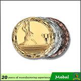 Le métal argenté de logo du bronze 3D d'or folâtre la médaille