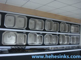 ボールのTopmountのインストールが付いているハンドメイドの洗浄流しを選抜しなさい、手作りしなさい流し、台所の流し(HMTS2420)を