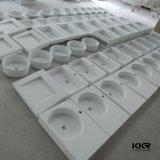 Bacia de lavagem de mármore artificial sólida superfície Bathroom Wall Hung (KKR-B1409154)