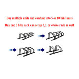 Zinc Plated Floor Bike Racks para 1 a 5 bicicletas