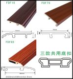 거품 플라스틱 벽 베이스 보드를 비화하는 PVC 방수 둘러싸는 낮은것