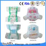 Pañal del bebé de la alta calidad con la pretina elástico en Fujian
