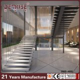 Glass Railing (DMS-4003)の木製のTread Straight Staircase