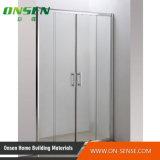 Sitio de ducha de aluminio simple con el vidrio transparente