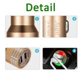 gli ABS di alluminio di 2.4A 1A si raddoppiano caricatore universale Port dell'automobile del USB del micro 2 per il iPhone