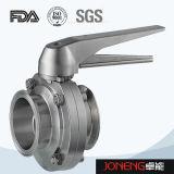 Valvola a farfalla saldata manuale del commestibile dell'acciaio inossidabile (JN-BV1001)