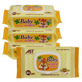 80 младенца хлопка PCS продуктов младенца Wipe Non-Woven влажных