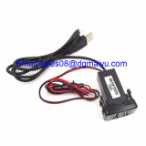 Cargador de coche DC 12V Dual USB con audio de carga Fast Fit para Nissan / Toyota / Toyota Vigo / Honda / Mitsubishi / Suzuki / Mazda