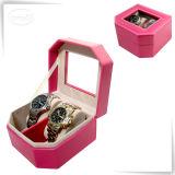 Caixa de relógio de couro do OEM do quadrado da caixa de relógio do plutônio do preço de fábrica