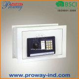 高い安全性の普通サイズ380X250X280mmの電子デジタル壁の金庫