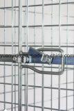 Paleta echada a un lado llena del rodillo del almacén y del supermercado de la seguridad