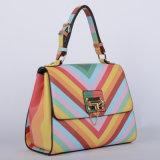De nieuwe Handtassen van de Dames van de Streep Pu van de Regenboog van het Ontwerp (P6203)