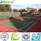 O tênis duradouro ostenta a corte de tênis ao ar livre da coberta de assoalho