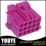 Connecteur automatique rose femelle plat de harnais de câblage de 15 voies
