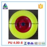 Колеса тачки PU при желтый цвет используемый в строительной площадке